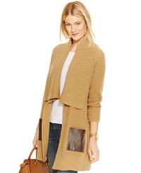 Michael Michael Kors Wool Blend Contrast Pocket Sweater Coat