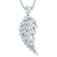 Jools By Jenny Brown Cubic Zirconia Angel Wing Necklace Silver