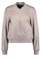 Noisy May Nmshiny Universe Bomber Jacket Moon Rock Grey