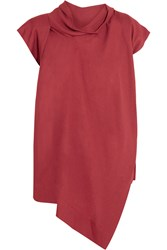 Vivienne Westwood Cave Draped Crepe Top Red