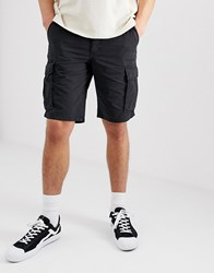 Selected Homme Cargo Shorts In Regular Fit Black