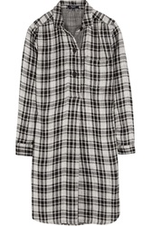 Madewell Jane Plaid Cotton Flannel Mini Dress