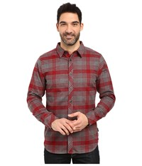 The North Face Long Sleeve Approach Flannel Biking Red Men's Clothing