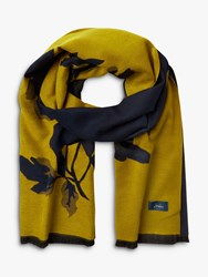 Joules Jacquelyn Floral Print Scarf Gold Navy