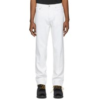 Adaptation White Straight Jeans
