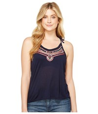 Rock And Roll Cowgirl Tank Top 49 1182 Navy Women's Sleeveless