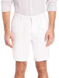 Onia Abe Solid Linen Shorts White