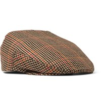 Kingsman Lock And Co Hatters Checked Cotton Tweed Flat Cap Brown
