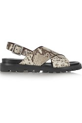 Marc By Marc Jacobs Gramercy Snake Effect Leather Sandals Animal Print