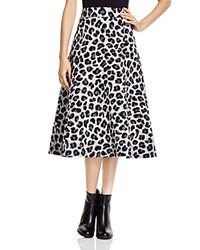 Dkny Quilted Leopard Print Midi Skirt Bloomingdale's Exclusive Steel Heather Black