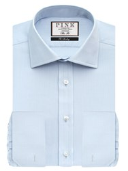 Thomas Pink Timothy Texture Double Cuff Slim Fit Shirt Pale Blue