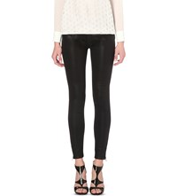 Ted Baker Aissata High Rise Skinny Wax Finish Jeans Black