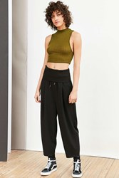 Silence And Noise Bronx Lantern Crop Pant Black
