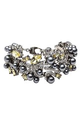 Women's St. John Collection Swarovski Crystal And Glass Pearl Bracelet