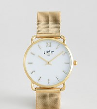 Limit Mesh Watch In Gold 33Mm Exclusive To Asos