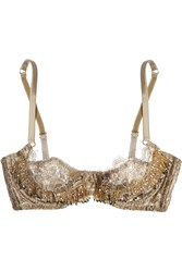 Agent Provocateur Soiree Zarrinia Metallic Beaded Lace Underwired Bra
