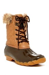 Arctic Plunge Quilty Faux Fur Boot Brown