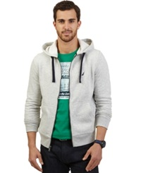 Nautica Big And Tall Solid Full Zip Hoodie Grey Heather