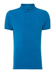 Criminal Pete Plain Polo Slim Fit Polo Shirt Blue