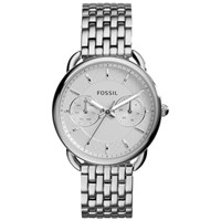Fossil Women's Tailor Stainless Steel Bracelet Strap Watch Silver