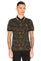 Fred Perry Camoflauge Pique Polo Olive
