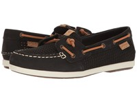 Sperry Coil Ivy Perf Black Women's Moccasin Shoes