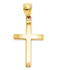 Macy's 14K Gold Charm Polished Cross Charm