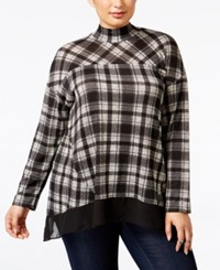 Styleandco. Style Co. Plus Size Plaid Chiffon Hem Top Only At Macy's Teabiscuit Plaid