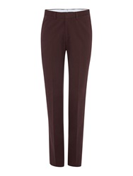 Chester Barrie Slim Fit Tailored Trousers Brown
