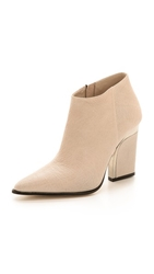By Malene Birger Uffio Pointed Toe Booties Light Beige