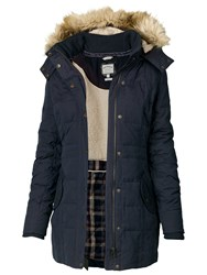 Fat Face Mawgan Long Puffer Blue