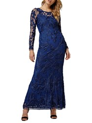 Phase Eight Collection 8 Aubree Tapework Dress Sapphire Blue