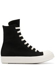 Rick Owens Drkshdw High Top Canvas Trainers 60
