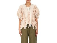 Ulla Johnson Women's Reya Fringed Cotton Sweater Ivory