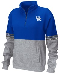 Colosseum Women's Kentucky Wildcats Rudy Quarter Zip Sweatshirt Royalblue Heather