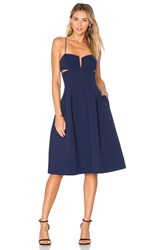 Kendall Kylie Box Pleat Cami Dress Blue