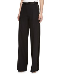 Jason Wu Wide Leg Satin Waist Trousers Black