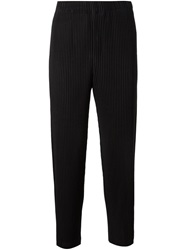 Homme Plisse Issey Miyake Pleated Trousers Black