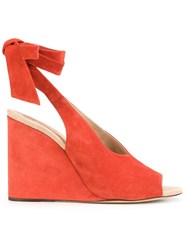 Derek Lam Wedge Pumps Red