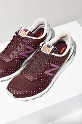 New Balance 696 Reengineered Polka Dot Running Sneaker Brown