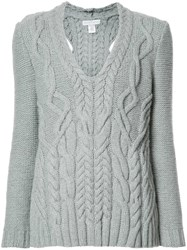 Nellie Partow V Neck Jumper Grey