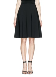 St. John Fine Gauge Sculpt Knit Skater Skirt Black