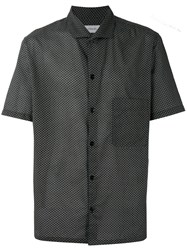 Christophe Lemaire Geo Print Shortsleeved Shirt Midnight