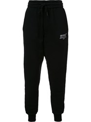 Off White Logo Print Sweatpants Black