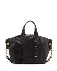 Cassie Medium Snake Embossed Tote Bag Black Oryany