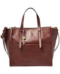 Fossil Campbell Tote Henna Gold