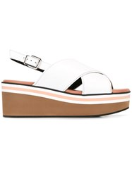 Robert Clergerie Wedge Sandals White