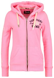 Superdry Tracksuit Top Pink Palm