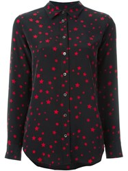 Equipment By Kate Moss Star Print Blouse Black