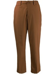 Closed Cropped Trousers Brown